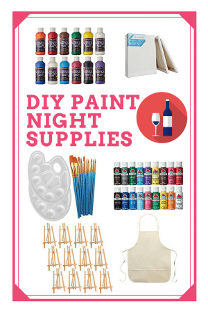 DIY Paint Party Supplies