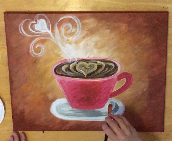 Coffee and Joints Acrylic painting