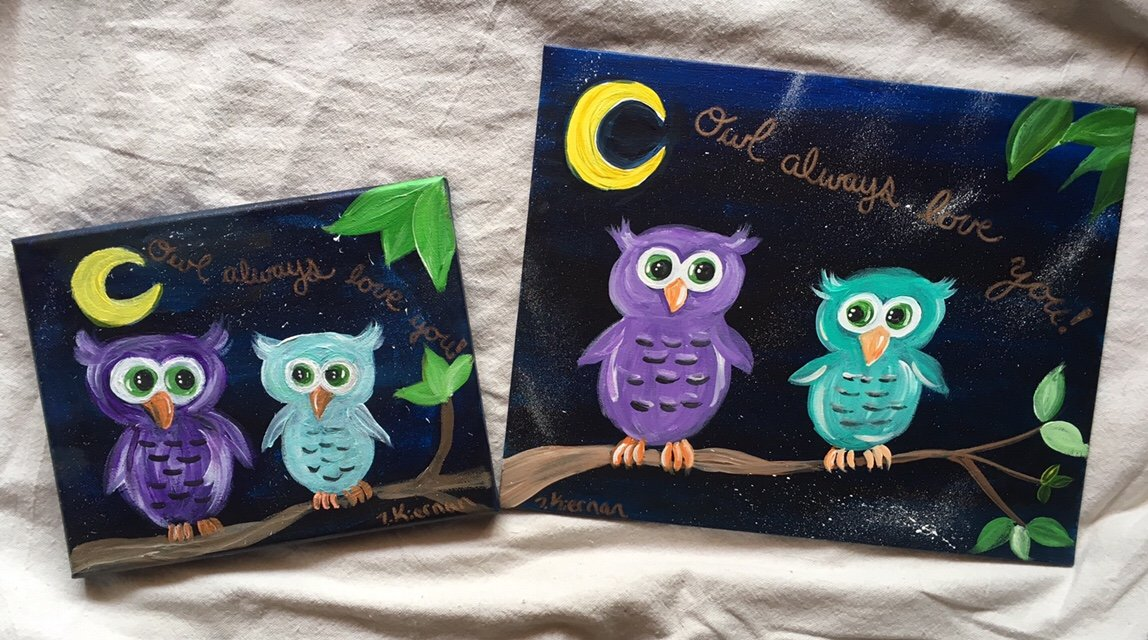Easy Owl Painting \