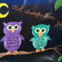 "Easy Owl Painting ""Owl Always Love You"""