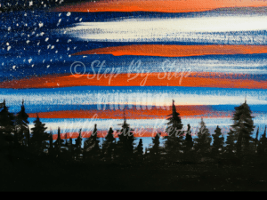 How To Paint An American Flag Sky