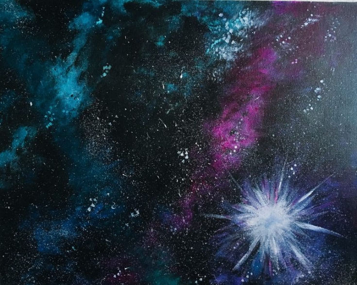 How To Paint Galaxy Space With Acrylics