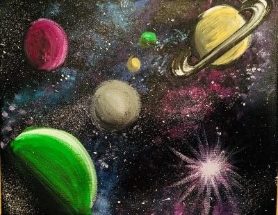 Planets Painting - Acrylic Painting Tutorial Step By Step