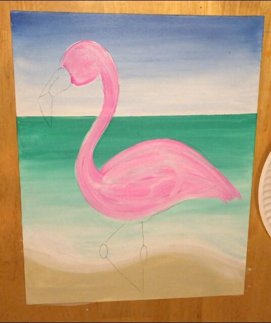 Flamingo Painting Learn How To Paint A Flamingo Step By Step