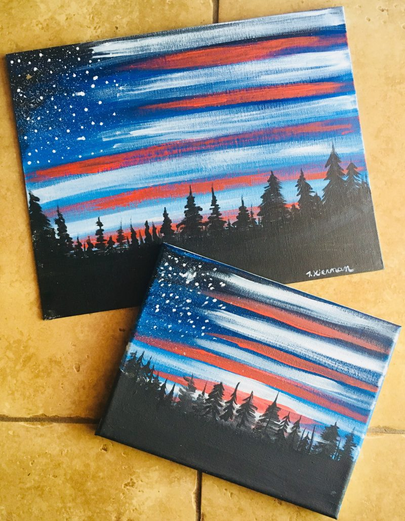 American Flag Painting Step By Step Tutorial For Beginners