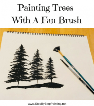 How To Paint Silhouette Trees With A Fan Brush