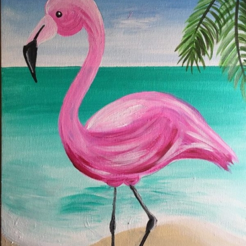 How To Paint A Flamingo