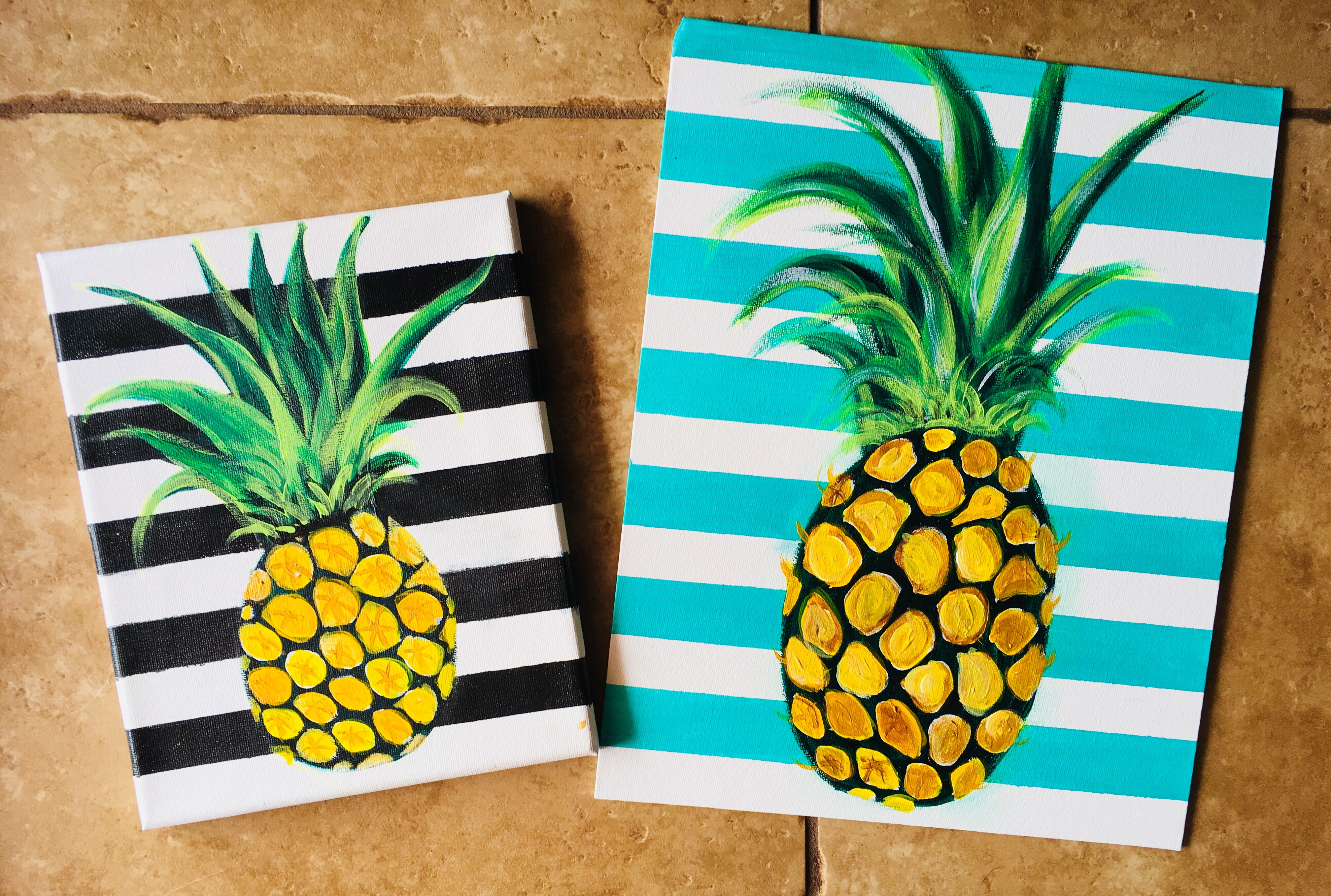 Pineapple Painting How To Paint A Pineapple