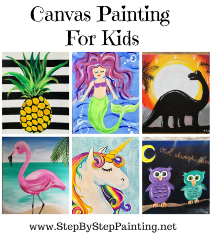 Painting For Kids - Step By Step Canvas Painting - Online Tutorials