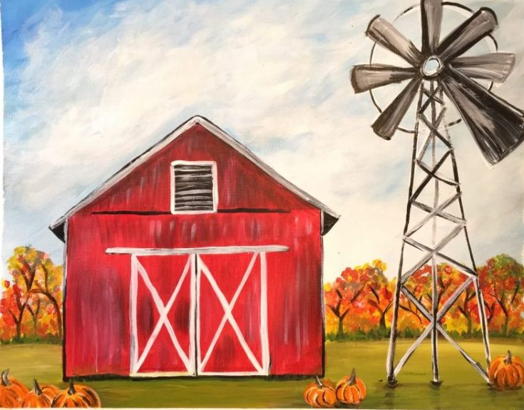 How To Paint A Fall Barn