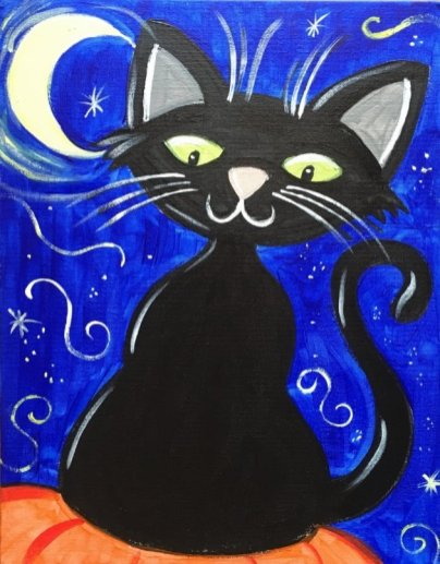 Kids Halloween Cat (Updated with traceable!!)