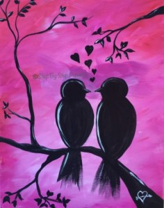 Valentines Day Step By Step Painting Tracie S Acrylic Painting Tutorials