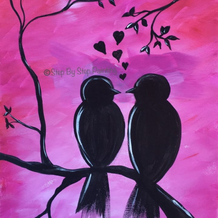 How To Paint Love Birds On Branch