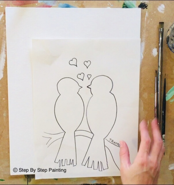 How To Paint Love Birds On Branch Step By Step Painting