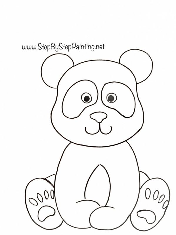 Panda Painting Step By Step Acrylic Tutorial With Pictures And Video