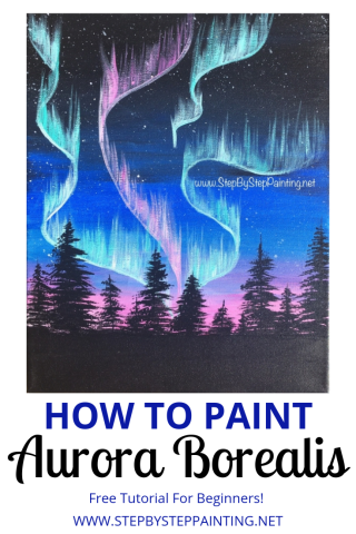 How To Paint Aurora Skyline Step By Step Painting