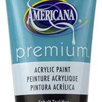 DecoArt Cobalt Teal Hue Americana Premium Acrylic Paint Tube 2.5oz