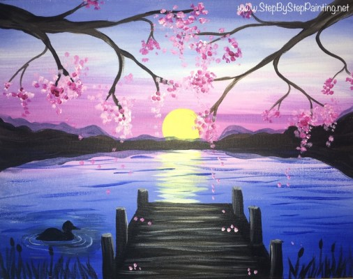 Sunset Pier Painting
