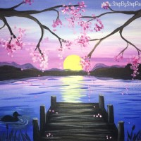 How To Paint A Sunset Pier