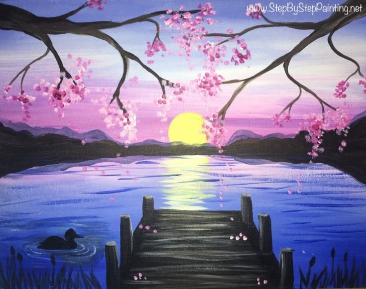 Sunset Pier Painting