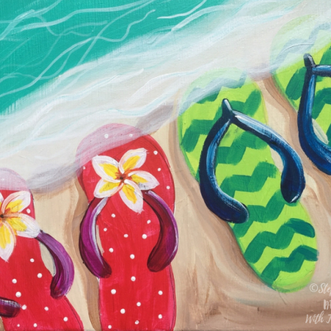 How To Paint Flip Flops On The Shore