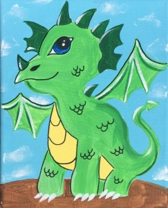 Cute Baby Dragon Painting