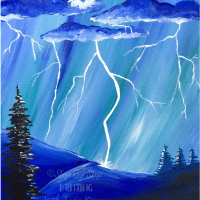 How To Paint A Lightning Storm