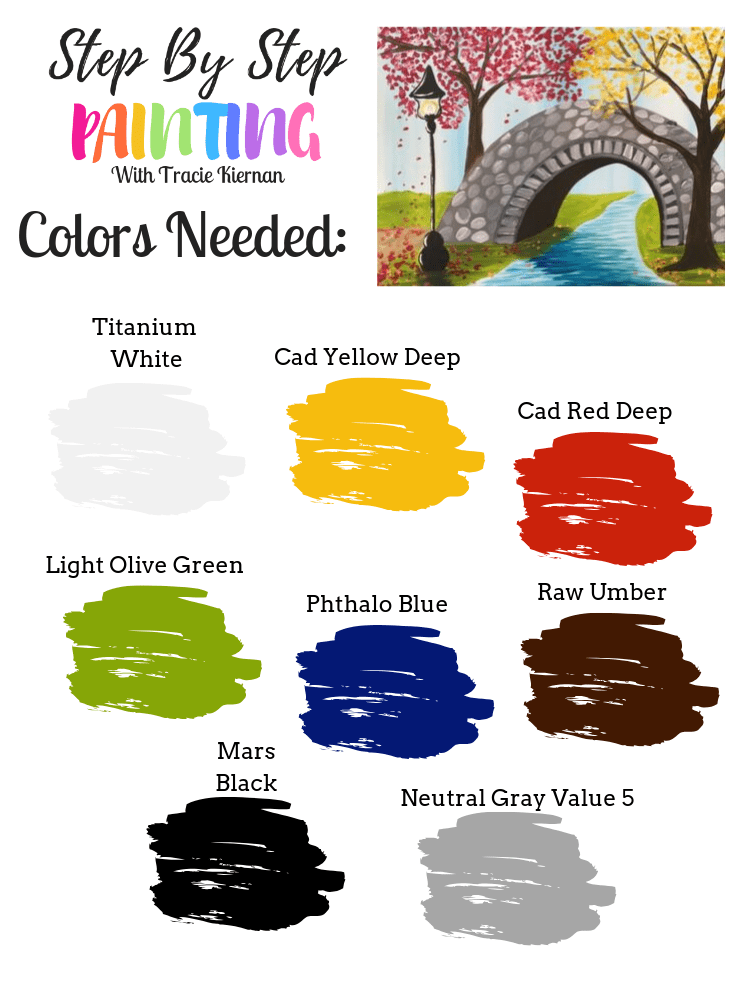 color palette list of colors for bridge painting