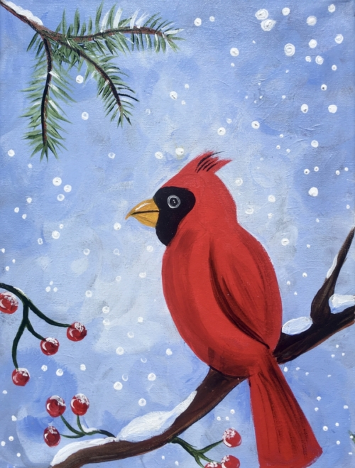 How To Paint A Cardinal