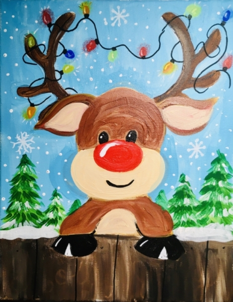 How To Paint A Cute Rudolph