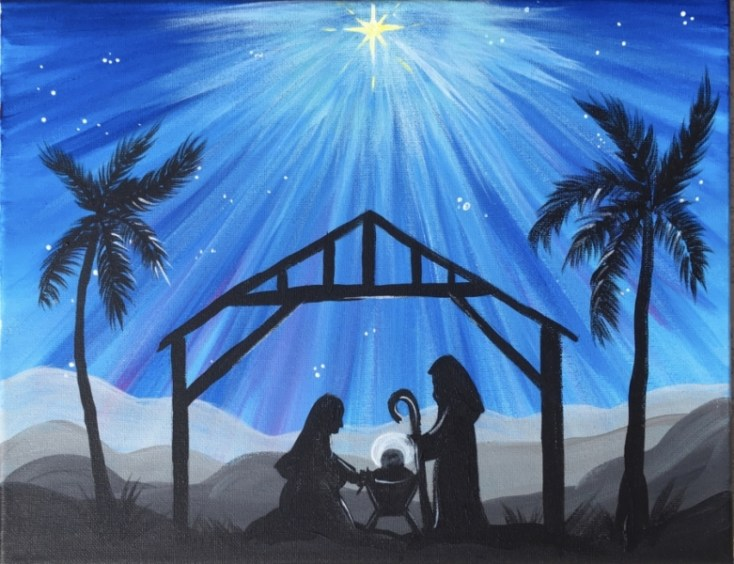 Nativity Silhouette Painting - Step By Step Painting With Tracie Kiernan