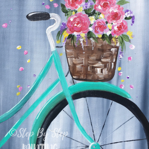 Spring Bicycle Painting