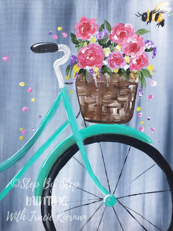 Spring Bicycle Painting