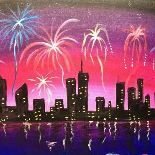 Cityscape Fireworks