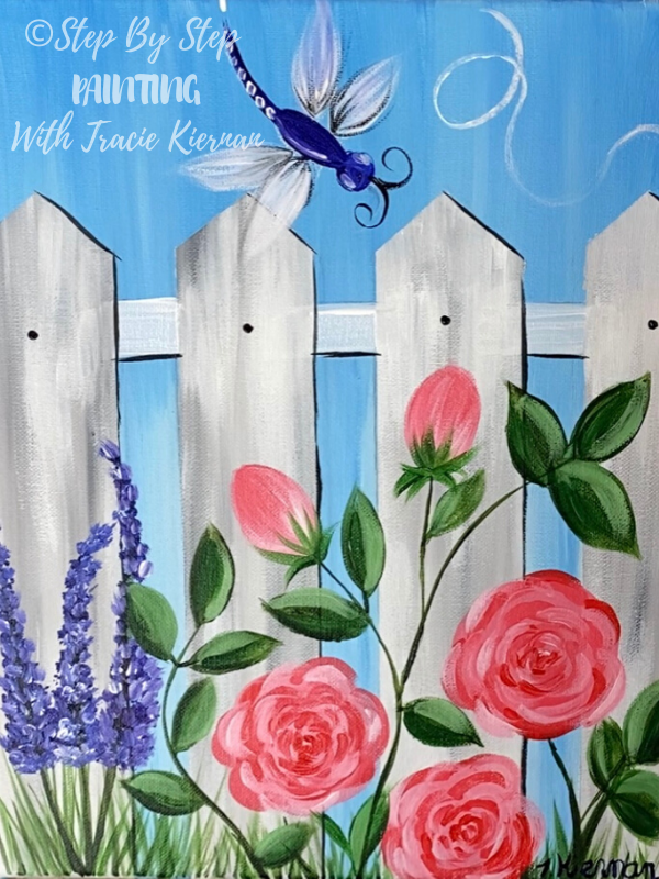 Garden Fence Painting