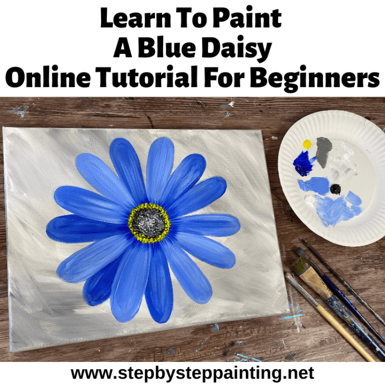 Flower Painting Step By Step Painting Tutorial For Beginners