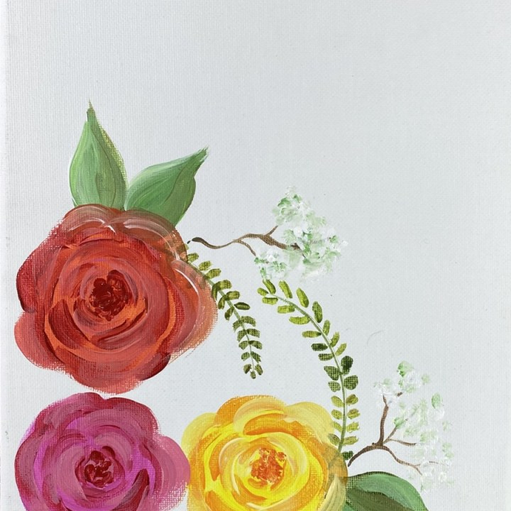 How To Paint Simple Decorative Roses