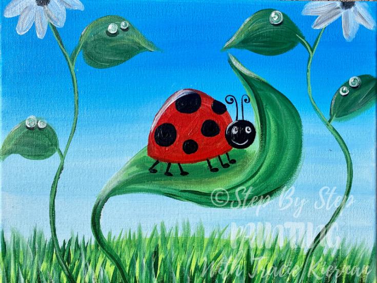Kids Ladybug Painting