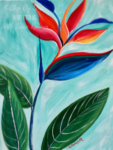 Bird Of Paradise Painting