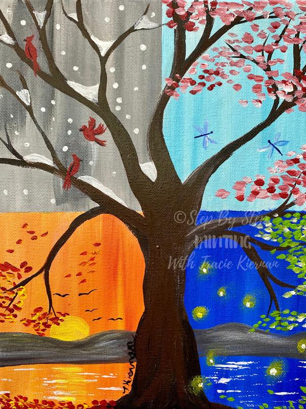 How To Paint A Four Seasons Tree
