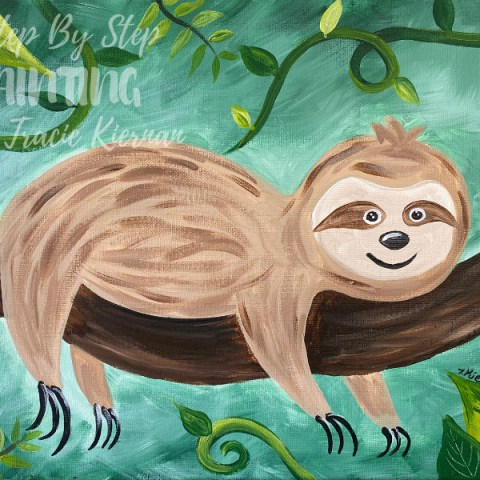 Learn To Paint A Sloth