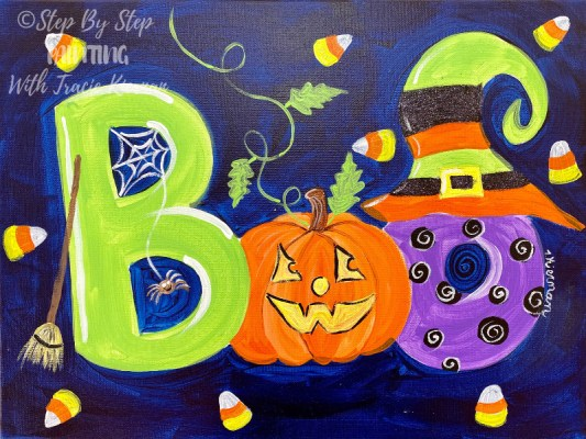 Halloween Archives Step By Step Painting With Tracie Kiernan