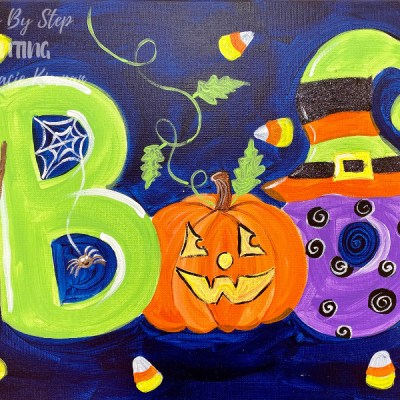 """Boo"" Halloween Letters Painting Tutorial"