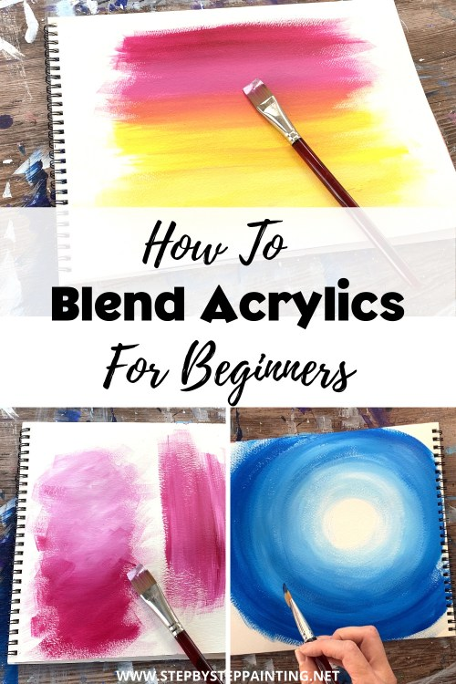 how to blend acrylic paint three ways