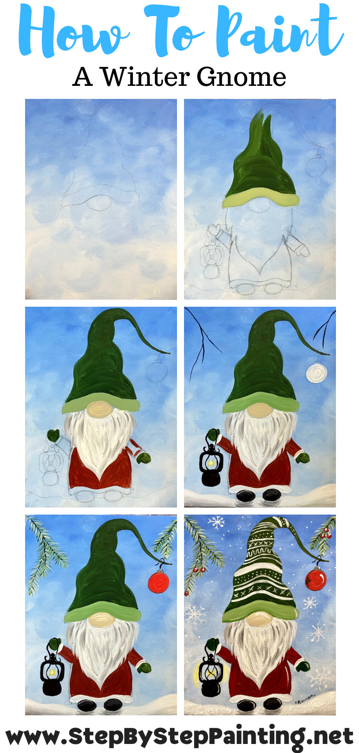 How To Paint A Winter Gnome Step By Step Painting With Tracie Kiernan