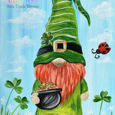 St. Patrick's Day Leprechaun Gnome Painting