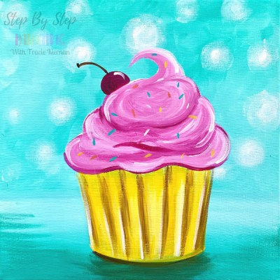Cupcake Painting Easy