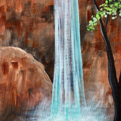 Havasu Falls Waterfall Painting Tutorial