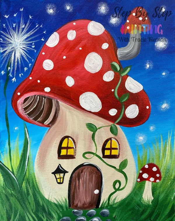 Mushroom House Painting Tutorial