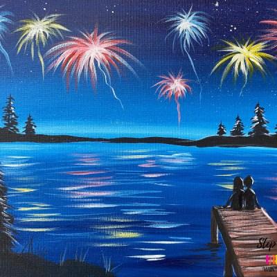 """Spectacular Lake"" Painting Tutorial"